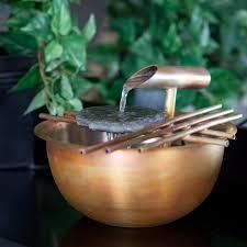 nayer kazemi water art 1004 copper gentle flow tabletop indoor fountain com