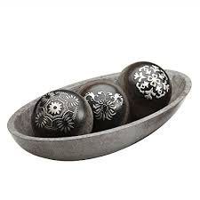 Decorative Balls For Bowl Nz New Hosley's Black And Silver Decorative OrbBall Set WBowl In Gift Box
