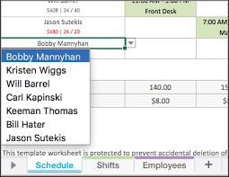 Scheduling Matrix Template Free Excel Employee Scheduling Template When I Work