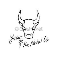 According to one myth, the jade emperor said the order would be decided by the order in which they arrived to his party. Ox Icon Symbol Of The Chinese Year Hand Drawn Sign Stock Vector Crushpixel