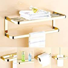 high end towel bars glass bathroom shelf with towel bar bathroom glass shelf ideas high end