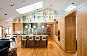 lighting for high ceiling. Vaulted Ceiling Recessed Lighting Sloped Lights Kitchen Modern With  Wood Flooring High Ceilings For