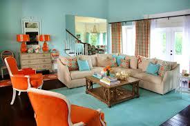 Orange And Blue Living Room Burnt Orange Living Room Pinterest Paint Color Schemes Living