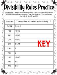 Divisibility Chart 1 100 Divisibility Rules Practice Halloween Themed