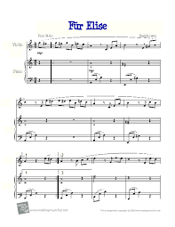 Fur elise ludwig van beethoven sheet music easy piano. Fur Elise Violin Solo