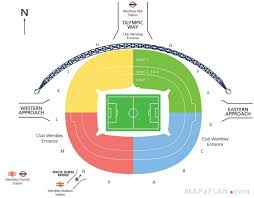 Wembley Stadium Nfl Seating Chart Fine The Awesome London Olympic Stadium Detailed Seating