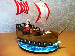 image of coolest pirate ship birthday cakes