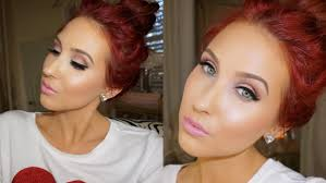 valentines day makeup tutorial feminine glowing jaclyn hill you