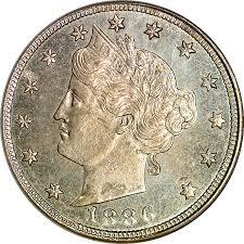 1886 5c Ms Liberty Head Five Cents Ngc