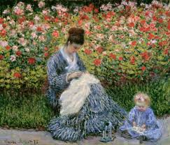 claude monet camille monet with child