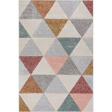 well woven ruby clark cream 5 ft x 7 ft modern geometric triangle area