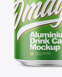 Very simple edit with smart layers. 350ml Matte Aluminium Drink Can Mockup In Can Mockups On Yellow Images Object Mockups