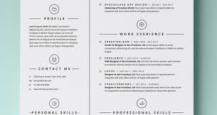 Simple Resumes Templates Beauteous Simple Resume Template Vol48 Resumes Templates Pixeden