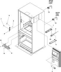 Door handle mechanism diagram inspirational amana refrigerator parts model abc2037dps