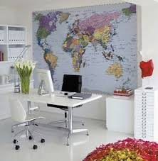 Details About World Map Wall Mural Photo Wallpaper Free Paste 270x188cm Large Office Decor