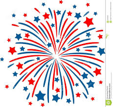 red white and blue fireworks clipart. Fireworks Clipart No Background Panda Free Images In Red White And Blue