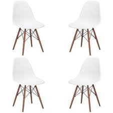 for vortex side chair with walnut legs set of 4 get free dining table chairsside chairscool