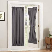 Balcony door curtains Jcpenney Pony Dance Gray Door Curtain Thermal Insulated Rod Pocke Blackout Privacy French Door Panel For Amazoncom Curtains For Patio Doors Amazoncom