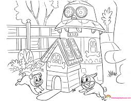 Puppy Dog Pals Clubhouse Printable Coloring Page Rainbow Playhouse