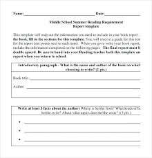 Free Book Report Template For High School Example Templates Lccorp Co