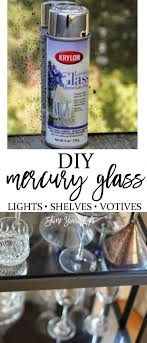 diy mercury glass is easy to achieve with spray paint and a simple technique
