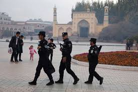 Security Personnel Uighur Security Personnel Patrol In Kashgar Abc News