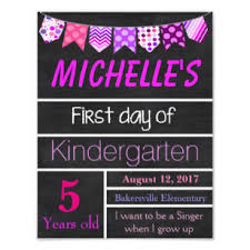 School Poster Maker First Day Of School Posters Photo Prints Zazzle