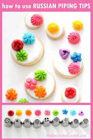 Russian Piping Tips How To Use Decorating Tips On Cookies And Cupcakes