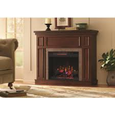home decorators collection granville 43 in convertible mantel electric fireplace in antique cherry with faux