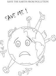 Control Pollution Printable Coloring Page For Kids Earth Day