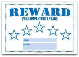 5 Day Reward Chart Colourful Reward Charts For Kids