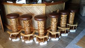 custom made outdoor tiki 6 pack bar stools
