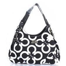 Coach Fashion Signature Medium Black Shoulder Bags ERH