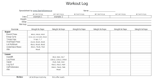 Weight Lifting Log Sheets Workout Excel Sheet Training Log Template Personal Management