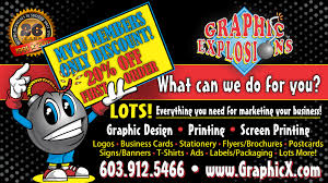 graphic explosions everything you need for marketing your business what can we do for you phone number 603 912 5466