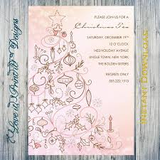 holiday template word holiday invitation diy template christmas tea editable printable