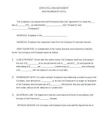 Agreement Letter For Loan Classy Promissory Note Template Canada Example Of Agreement Letter For