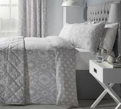 details about intricate paisley style silver grey cotton blend single duvet cover bedspread