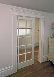 Retrofit Pocket Door White Door Frame Glass Sliding Doors More Modern More