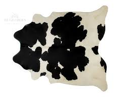 cowhide rug black and white special with canvas backing xl 39 sqft