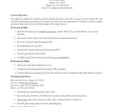 Examples Of Objective Statements On Resumes Objective Sentences For Resumes Simple Resume Objective Statements