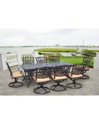 hanover outdoor traddn9pcsw8 traditions 9piece dining set tan patio hanover patio furniture 916