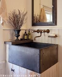 bathroom farm sink. Rustic Powder Farmhouse Sink Vanity Bathrooms Pinterest Bathroom Farm