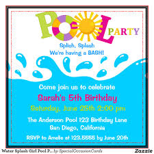 pool party invitation template word com swimming pool invitations templates template party