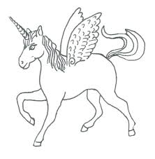 unicorn with wings coloring pages. Delighful Unicorn Flying Unicorn Coloring Pages With Wings  Outline For Kids In Unicorn With Wings Coloring Pages O