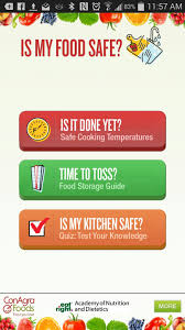 4 food apps to add to your phone or tablet safebee foodsafe app screen shot