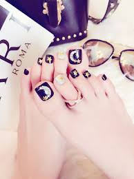 24 x Cool Black Star Moon Girls <b>Fashion Full Cover Fake</b> False ...