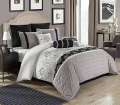 gray and white king comforter set. Plain And Intended Gray And White King Comforter Set Y
