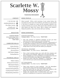 Where To Get A Resume Made Fashion Designer Resume Template Creative Modern Resumes For Ms