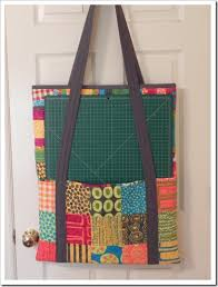 Cutting Mat and Ruler Tote Bag for Quilters - Quilting Digest & Cutting Mat and Rulers Quilting Tote Adamdwight.com
